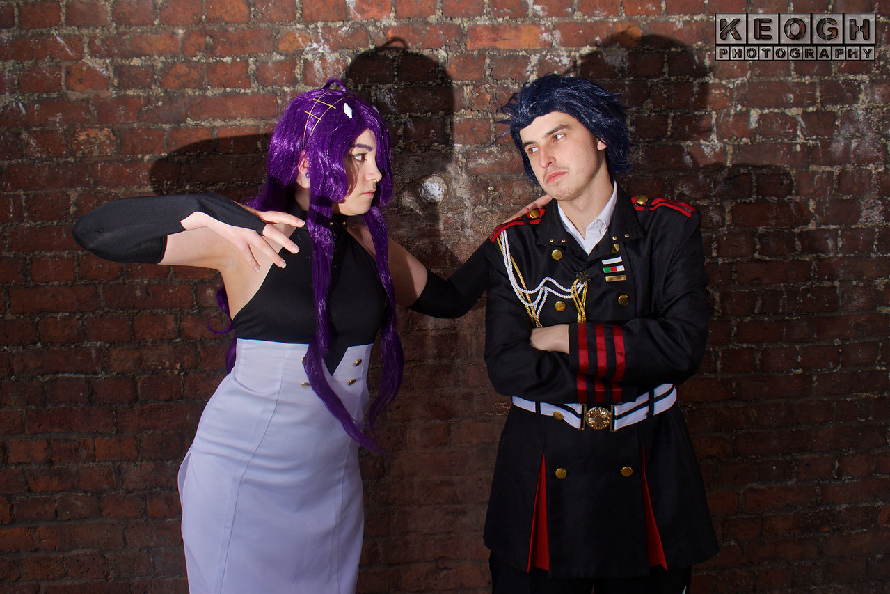 NW Cosplay June Meet 2016, Cosplay, Cosplayer, Female, Manga, Anime, Video Games, Asuramaru, Seraph Of The End, Top, Dress, Shorts, Shoes, Head Dress, Buttons, Black, Purple, White, Gold, Soldier, Soldier, Uniform, Medals, Military, Military Insignia, Pants, Shirt, Jacket, Badges, Patches, Rope,
