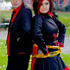 Anime, Black, Blade, Cloak, Corset, Cosplay, Cosplayer, Dress, Female, Hood, Manga, NW Cosplay Halloween Meet 2016, Pants, Read, Ruby, Ruby Rose, RWBY, Scythe, Shoes, Silver, Top, Trainers, Trousers, Video Game, Weapon, Male, Hat, Jacket, Shirt, Pants, Red, Black, White, Gold, Park, Trees, Green, Grass, Leaves, Brown, Orange