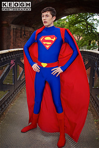 NW Cosplay Summer Meet 2016, Cosplay, Cosplayer, Male, Comics, DC Comics, Video Games, Movies, Cartoons, Man Of Steel, Superman, Clark Kent, Kal-El, Krypton, Jumpsuit, Cape, Boots, Belt, Canal, Canal Bridge, Bridge, Trees, Hero, Super Hero, Justice League, Injustice Gods Among Us