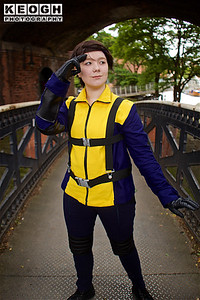 NW Cosplay Summer Meet 2016, Cosplay, Cosplayer, Female, Marvel Comics, Marvel, Cartoons, Movies, Video Games, X-Men, Professor Charles Xavier, Charles Francis Xavier, Professor X, Mutant, Telepathy, Telepathic, Mind Reader, Hero, X-Men, X-Men 2, X-Men The Last Stand, X-Men Origins Wolverine, X-Men Origins First Class, The Wolverine, X-Men Days Of Future Past, X-Men Apocalypse, Suit, Belts, Straps, Jacket, Trousers, Pants, Boots, Blue, Yellow, Black, Silver