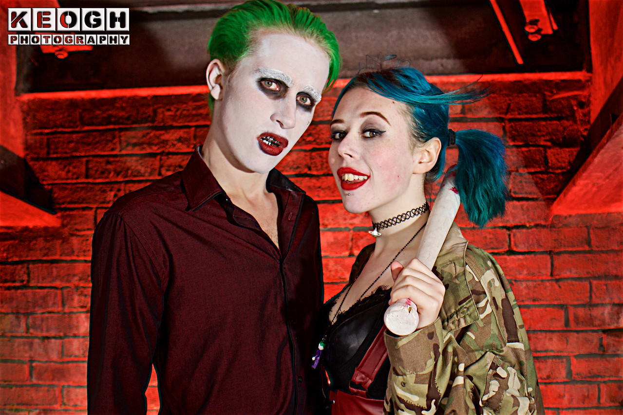 NW Cosplay Summer Meet 2016, Cosplay, Cosplayers, Female, Male, Comics, DC Comics, Comics, Video Games, Animation, Cartoons, The Joker, Harley Quinn, Puddin, Mr J, Batman, Suicide Squad, Harleen Qunizel, Arkham City, Arkham Asylum, Arkham Origins, Arkham Knight, Goth City Sirens, Gothan, Shirt, Pants, Trousers, Belt, Grills, Camouflage Jacket, Corset, Bra, Baseball Bat, Necklace, Weapon, Red, Black White, Green, Brown, Silver