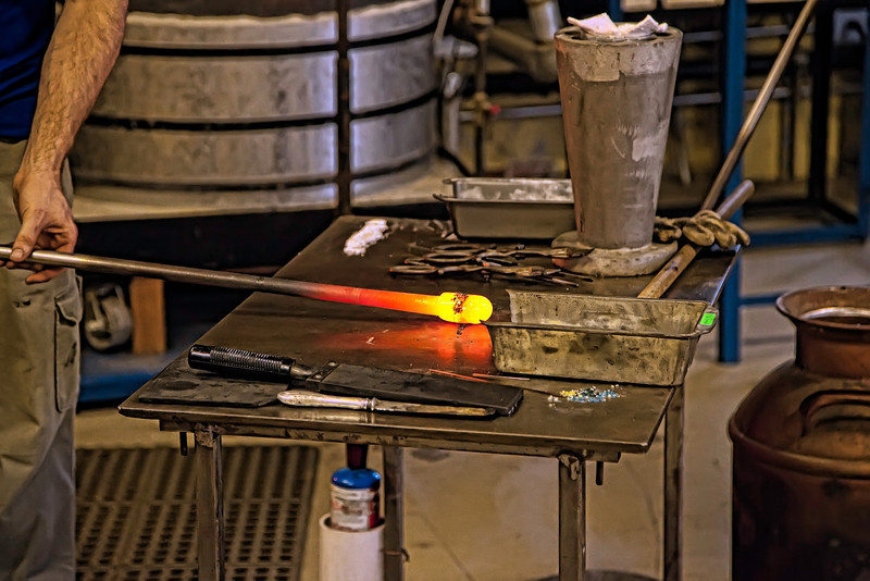 Beginning the Glass Blowing Process