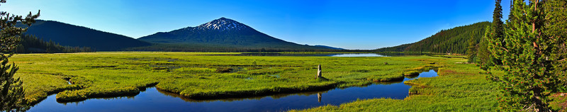 All Lakes are Destined to Become Meadows. Sparks Lake and Mt Bachelor Oregon