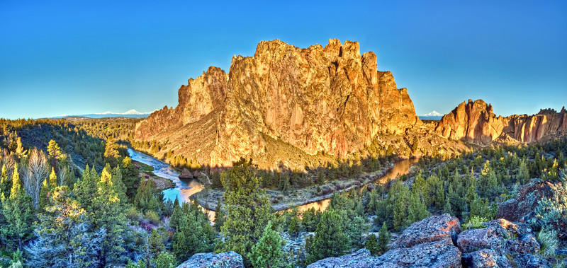 The Phoenix Rising at Sunrise in Smith Rock State Park