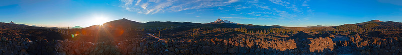 The View from the Top of the Dee Wright Observatory at the McKenzie Pass