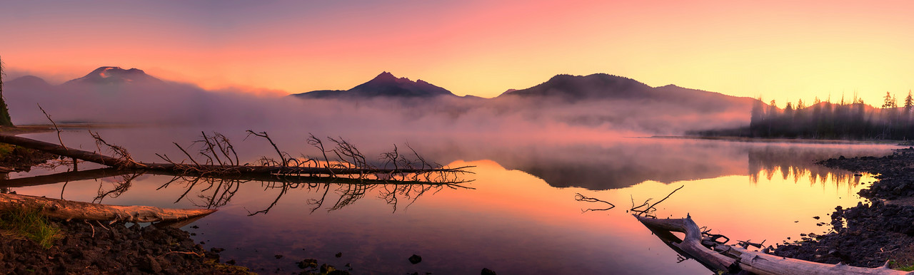 Smokey Foggy Sparks Lake Sunrise