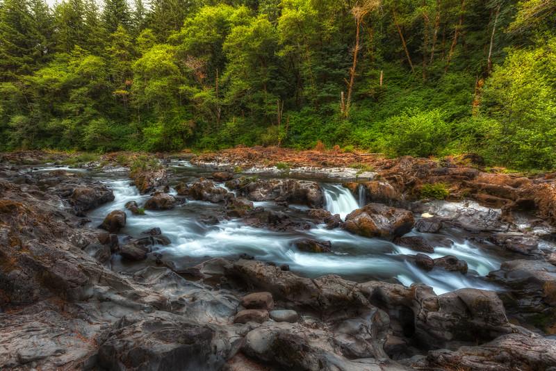 East Fork Lewis River at Moulton Falls