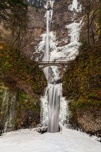A Frozen Multnomah Falls