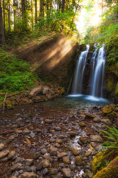 Light Rays and Majestic Falls