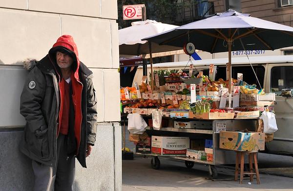 MAN AND FOOD CART