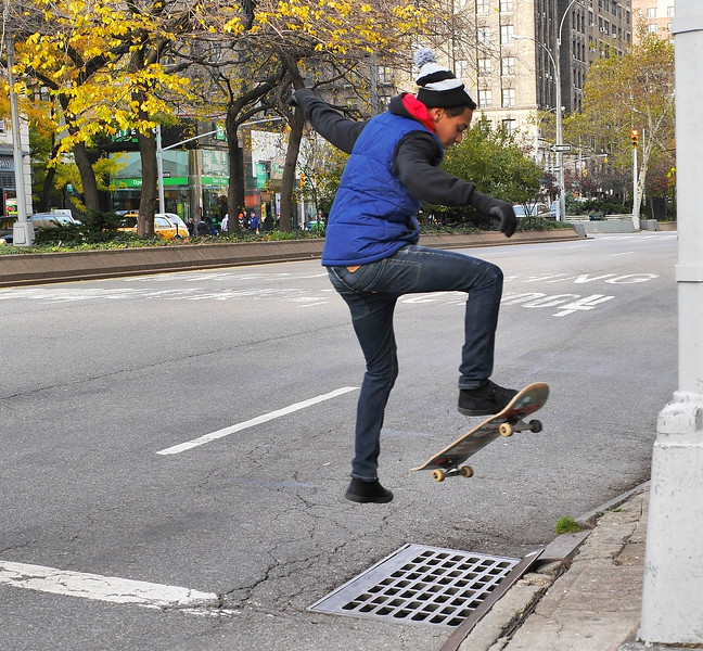 SKATEBOARDER IN ACTION