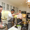 New York's famous top Chef Floyed Cardoz  59 years of Bombay died of COVID 19 infection in NYon 25th March 2020 he was tasted positive on 18th march in 1997 he opened restaurent TABLA in Manhatten  with Danny Meyer in photo Chef Floyed preparing food at a party held at Meera Gandhi A global influencer, Humanitarian   Founder of The Giving Back Foundation...pic Mohammed Jaffer-SnapsIndia