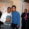Star Chef Vikas Khanna (R)-and New York's famous top Chef Floyed Cardoz  59 years of Bombay died of COVID 19 infection in NYon 25th March 2020 he was tasted positive on 18th march in 1997 he opened restaurent TABLA in Manhatten  with Danny Meyer in photo Chef Floyed preparing food at a party held at Meera Gandhi A global influencer, Humanitarian | Founder of The Giving Back Foundation...pic Mohammed Jaffer-SnapsIndia