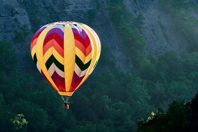 Balloon Glowing in Letchworth Gorge - M
