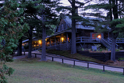 Elk Lake Lodge at Dawn