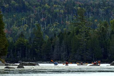 Elk Lake Inlet with Kayaks
