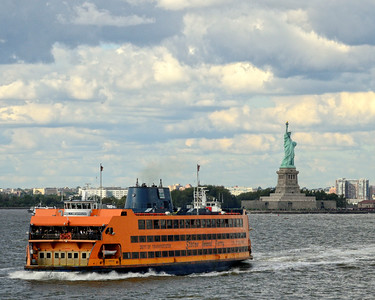 Stature of Liberty with/from Staten Island Ferry- M