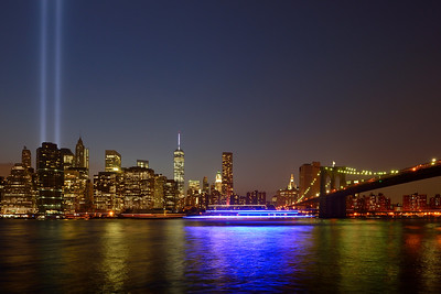 Skyline and Brooklyn Bridge from Dumbo
