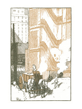 The Passing of the Brownstone Dwelling  New York; a series of wood engravings in colour and a note on colour printing by Rudolph Ruzicka, with prose impressions of the city by Walter Prichard Eaton.