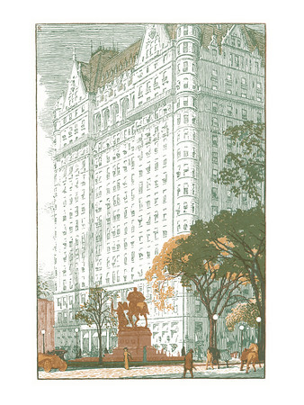 The Plaza  New York; a series of wood engravings in colour and a note on colour printing by Rudolph Ruzicka, with prose impressions of the city by Walter Prichard Eaton.