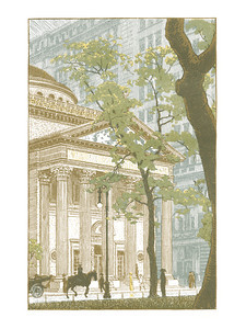 Madison Square  New York; a series of wood engravings in colour and a note on colour printing by Rudolph Ruzicka, with prose impressions of the city by Walter Prichard Eaton.