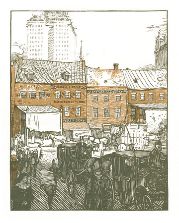 West Street  New York; a series of wood engravings in colour and a note on colour printing by Rudolph Ruzicka, with prose impressions of the city by Walter Prichard Eaton.