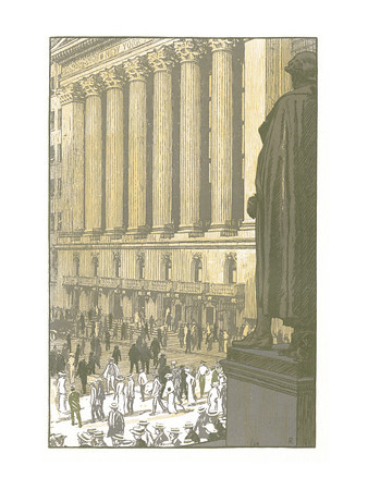 Broad Street at Wall  New York; a series of wood engravings in colour and a note on colour printing by Rudolph Ruzicka, with prose impressions of the city by Walter Prichard Eaton.