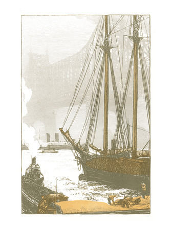 Queensboro' Bridge  New York; a series of wood engravings in colour and a note on colour printing by Rudolph Ruzicka, with prose impressions of the city by Walter Prichard Eaton.