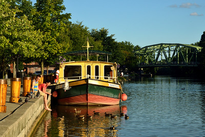 Schoen Place on the Erie Canal, with Packet Boat