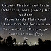 Orionid Fireball and Train October 21, 2017, 9:46:03