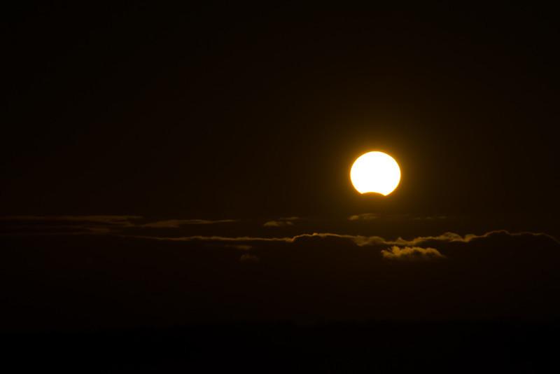 Partial Eclipse over Lake Ontario