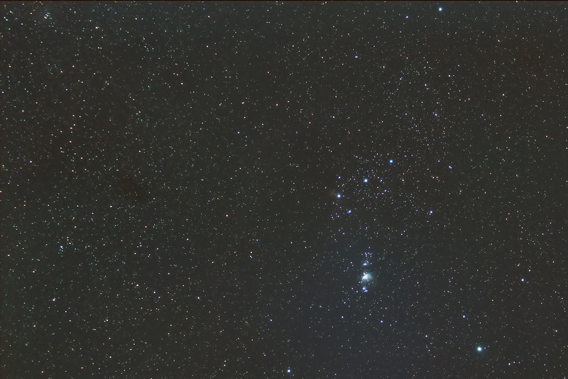 Oct 12, 2013 - Orion constellation sans Betelgeuse taken by Anu <br /> After an unsuccessful early morning attempt to find the tail of comet ISON in the wee hours of the morning.  This is my second attempt at using a mobile setup.  As you can see, the alpha star in the constellation is missing.  I still need to work on my framing :D
