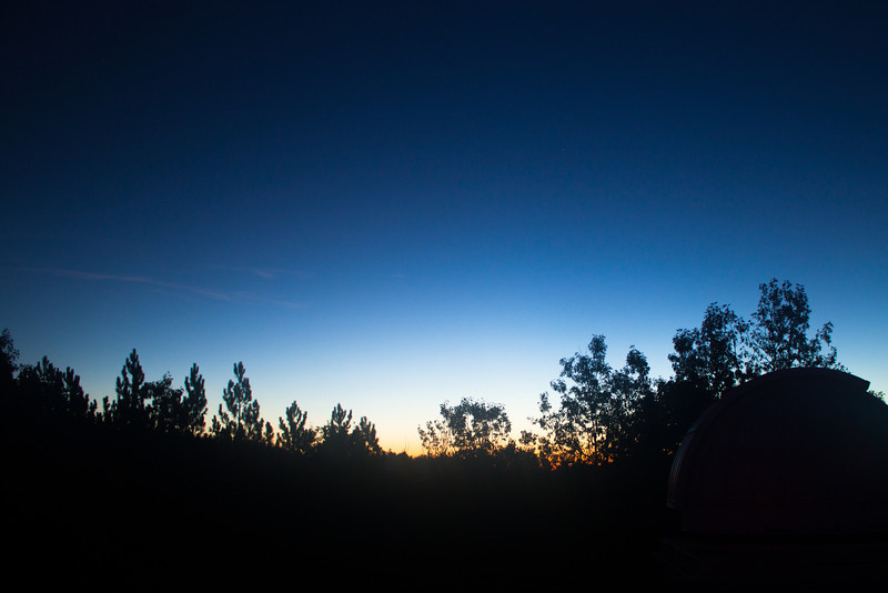 Dawn at Oak Heights on Oct 12.  Alex and me (Anu) tried to find comet ISON in the wee hours of the morning.  We didn't find any noticeable tail, but did get to see a glorious dawn!