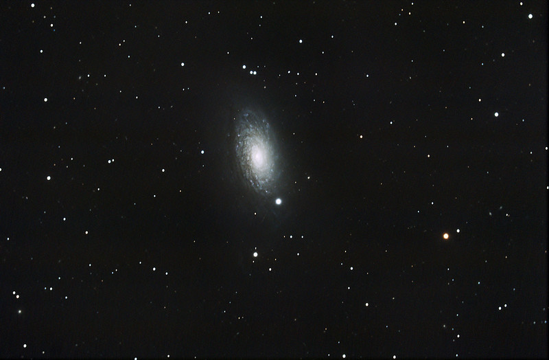 M63 Sunflower Galaxy...taken by Lynn Hilborn with a C9.25 and Canon 50D at Whistle Stop Obs, Grafton...May 2009
