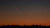 "PanSTARRS by Andreas Gada, Oak Heights Astronomical, as seen from Bulls Road near Roseneath ON on March 14, 2013 8:28 PM, Canon 60Da, Nikkor 135 f/2.8,  ISO 1600, 1/2"" exposure."