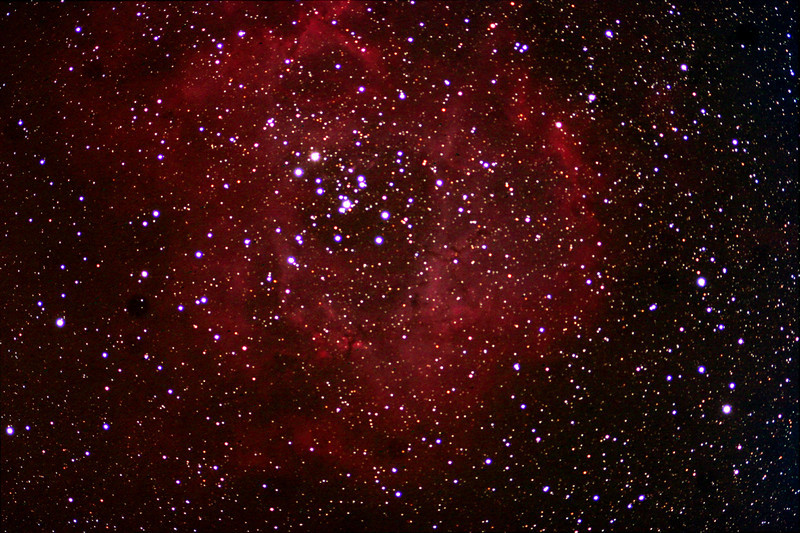 Taken by - Dennis Gasparotto<br /> Image - Rosette Nebula<br /> Location - Forks of the Credit<br /> Equipment - Astrotech 102ED Canon 350D modified