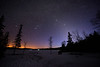 Orion and Zodiacal Light at Lake of Two Rivers, by Malcolm Park <br /> Nikon D800<br /> 1600 ISO<br /> 20 sec exposure<br /> 14mm @ f/2.8
