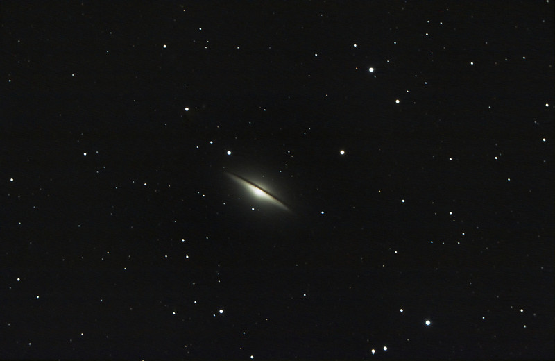 M104...taken by Lynn Hilborn with a C9.25 and Canon 50D at Whistle Stop Obs, Grafton.