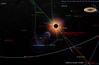 This is a simulation of how the daytime sky will look during the total eclipse on July 11, 2010. The bright comet (called Mcnaught C2009 R1) may be visible at the time of the eclipse.