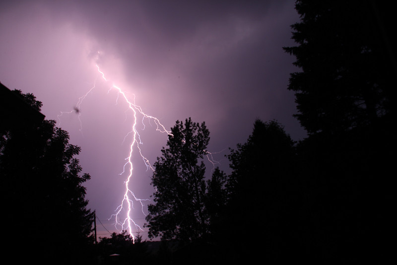 Bought a lightning detector at Starfest for my Canon XS...it works !<br /> First real try through my living room window. Taken by Lynn Hilborn,, Grafton, On. Sept 7, 2010.