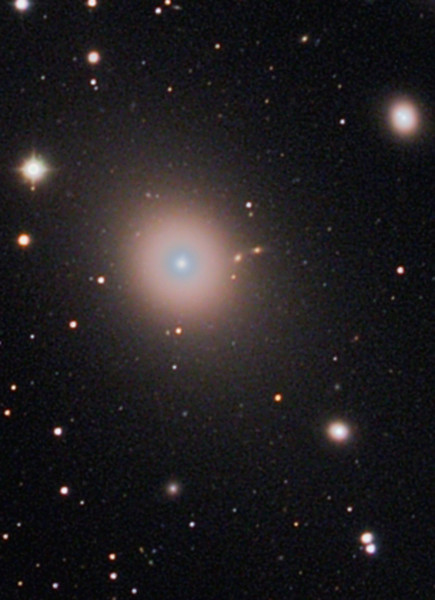 May 20 2010 APOD has Adam Block's M87 galaxy jet...hmmm, I dug out my widefield of Markarian's Chain and reprocessed M87...voila ( almost one o'clock position in this frame) !<br /> Lynn Hilborn, WhistleStop Obs