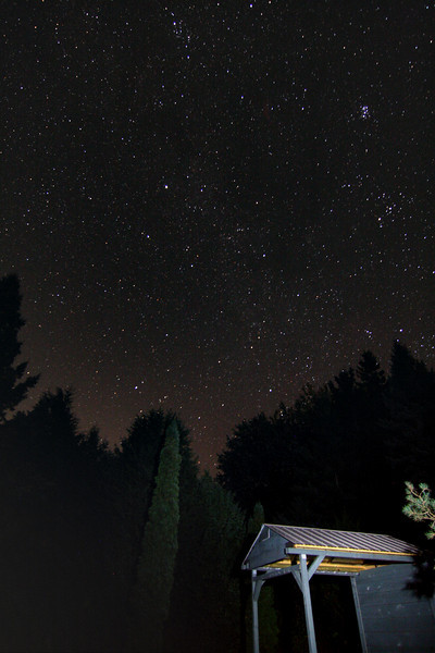 WhistleStop Observatory...roof open at 3:45am Sept 18,2010.<br /> 1600 ISO f4 12mm 40 seconds