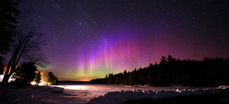 Aurora Borealis at Canoe Lake, Algonquin Park by Malcolm Park<br /> Nikon D800<br /> 1600 ISO<br /> 20 sec exposure.<br /> 14mm @ f/2.8<br /> cropped.