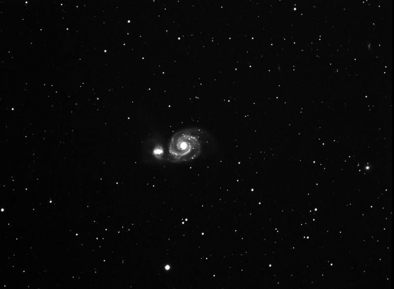 "Hi  Malcolm<br />  <br /> I was at the observatory last night and took a bunch of images of the supernova.  I also found I had imaged M51 on May 8 2011.  So I have pre and post supernova images.<br />  <br /> The pre SN image is a combination of five  200"" images.  The post SN image is a combination of two 600"" images.<br />  <br /> Please post these images on our website.<br />  <br /> Thanks,<br />  <br /> Andreas"