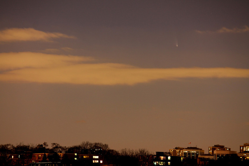 Comet Panstarrs Mar16,2013,8.30pm by Alex Dolnycky Humber River near the Queensway. <br /> CanonT3,f5.6,6sec,iso400,146mm.
