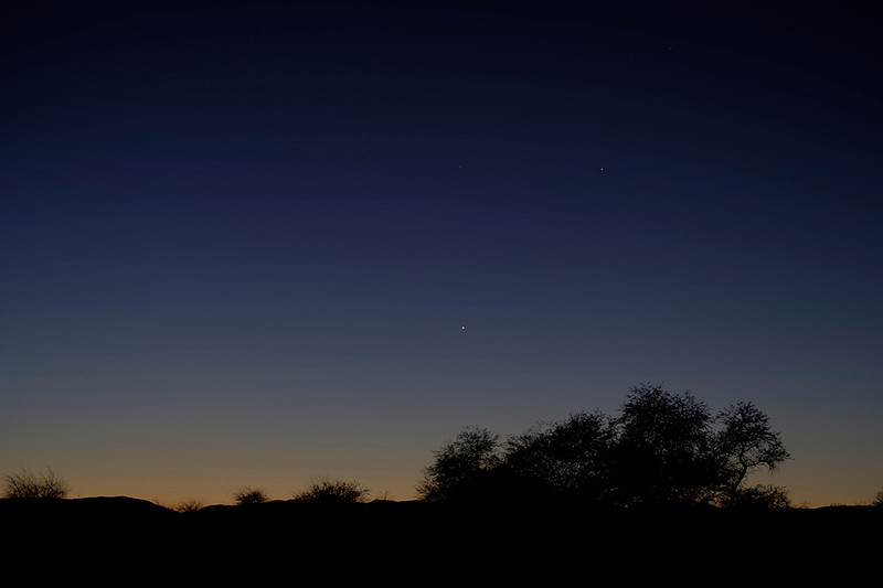 Venus below Mercury from San Pedro de Atacama, Chile