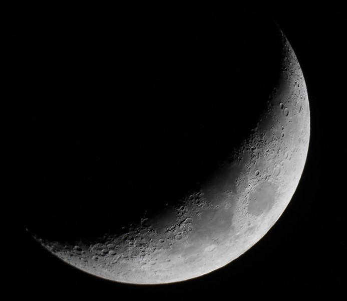 Moon Mar16,2013 by Alex Dolnycky. <br /> CanonT3 on 6inch CelestronSC,iso200,1/60sec.
