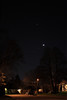 Venus above the Crescent Moon and Jupiter, March 25 2012  from Toronto Ont.  HDR of 3 exposures. R.McW.