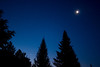 """Andreas Gada, Moon Jupiter and Venus conjunction July 12, 2012 4:38 EDT as seen from Oak Heights.  Canon 40D, Canon 10 – 22 mm lens set at 22 mm and f/4.5, ISO 1600 with a 1.6"""" exposure."""