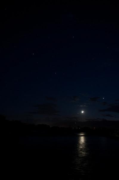 in this pic...Saturn, Mars, Moon and Venus<br /> Silt, Colorado (Colorado River)<br /> Malcolm Park<br /> Nikon D3 F2.8 1600ISO 1 or 2 sec exposure